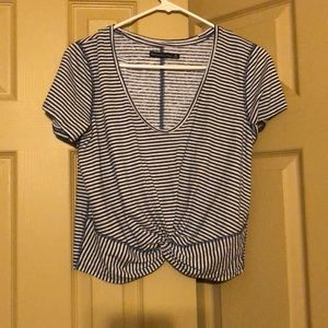 Abercrombie & Fitch Tops - Blue and white shirt